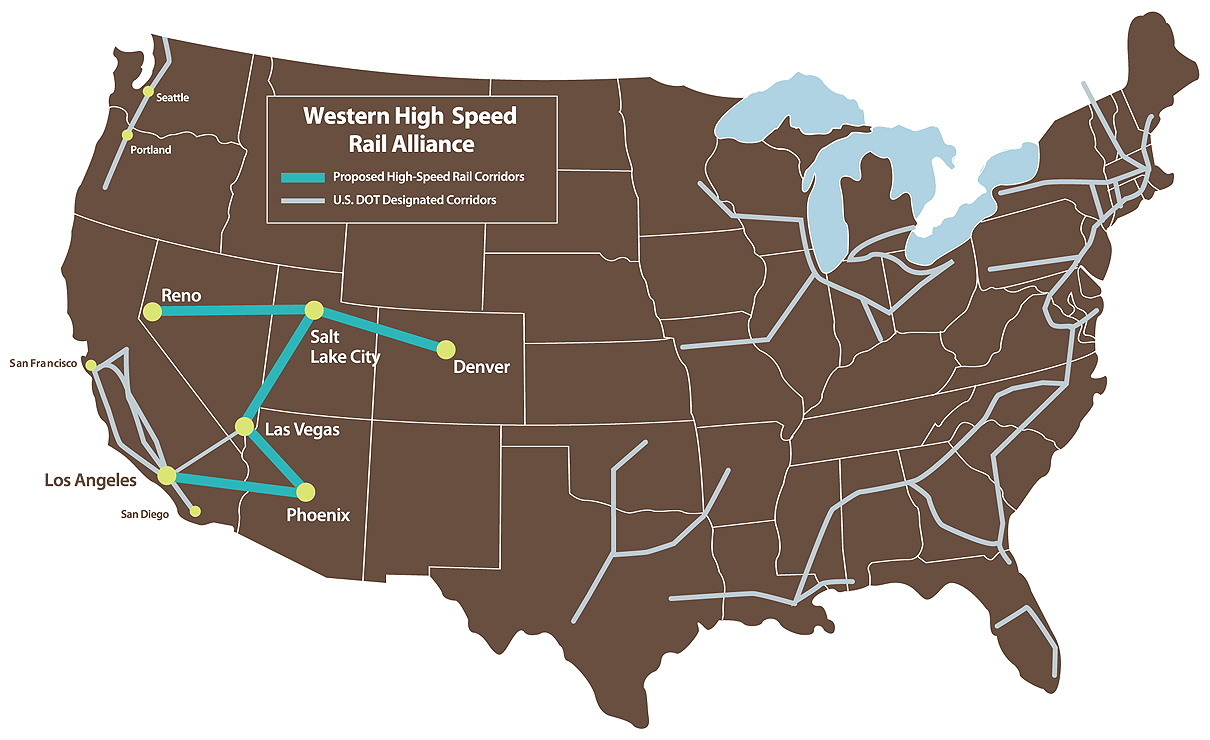 Home Western High Speed Rail Alliance - Who has an alliance with the us map
